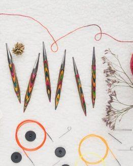 KnitPro Symfonie Deluxe Set: Ferri circolari intercambiabili in legno disponibili in 8 misure differenti per lavori a maglia - Amici di Maglia