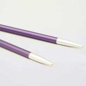KnitPro Zing Special Amethyste: punte corte da 3.75 mm per ferri circolari intercambiabili in alluminio - Amici di Maglia