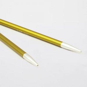 KnitPro Zing Special Chrysolite: punte corte da 3.50 mm per ferri circolari intercambiabili in alluminio - Amici di Maglia