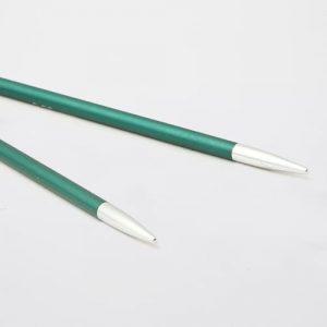KnitPro Zing Special Emerald: punte corte da 3.25 mm per ferri circolari intercambiabili in alluminio - Amici di Maglia