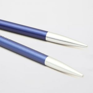 KnitPro Zing Special Iolite: punte corte da 4.50 mm per ferri circolari intercambiabili in alluminio - Amici di Maglia