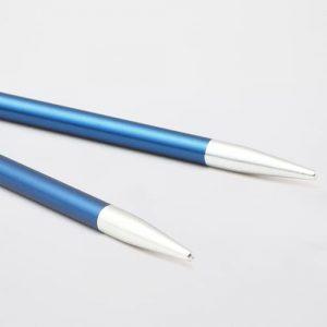 KnitPro Zing Special Sapphire: punte corte da 4.00 mm per ferri circolari intercambiabili in alluminio - Amici di Maglia