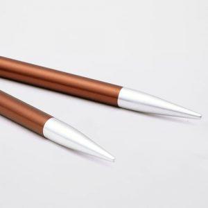 KnitPro Zing Special Sienna: punte corte da 5.50 mm per ferri circolari intercambiabili in alluminio - Amici di Maglia