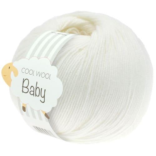 Lana Grossa Cool Wool Baby 207 bianco: filato invernale in pura lana merino - Amici di Maglia