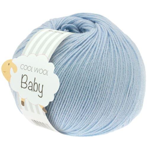 Lana Grossa Cool Wool Baby 208 azzurro: filato invernale in pura lana merino - Amici di Maglia