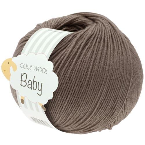 Lana Grossa Cool Wool Baby 211 marrone grigio: filato invernale in pura lana merino - Amici di Maglia