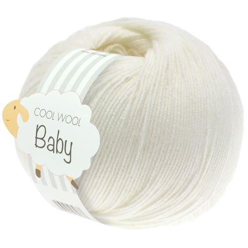 Lana Grossa Cool Wool Baby 213 bianco crudo: filato invernale in pura lana merino - Amici di Maglia