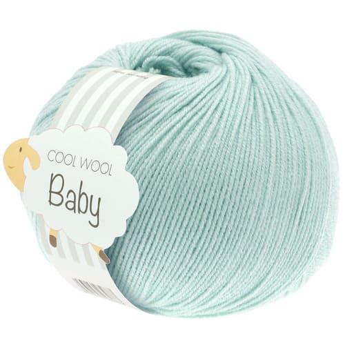 Lana Grossa Cool Wool Baby 257 turchese chiaro: filato invernale in pura lana merino - Amici di Maglia