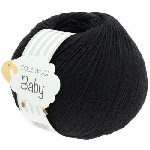 Lana Grossa Cool Wool Baby 278 nero: filato invernale in pura lana merino - Amici di Maglia