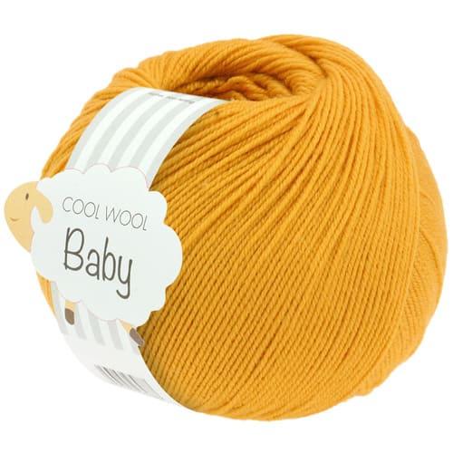 Lana Grossa Cool Wool Baby 280 giallo zafferano: filato invernale in pura lana merino - Amici di Maglia
