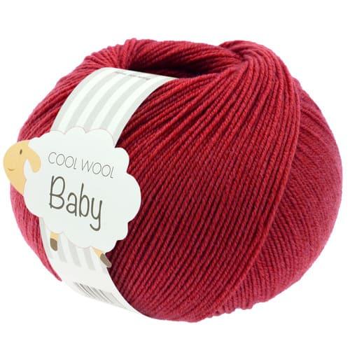 Lana Grossa Cool Wool Baby 289 rosso scuro: filato invernale in pura lana merino - Amici di Maglia
