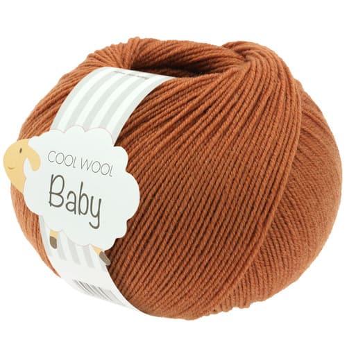 Lana Grossa Cool Wool Baby 291 ruggine: filato invernale in pura lana merino - Amici di Maglia