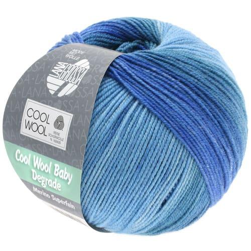 Lana Grossa Cool Wool Baby Dégradé 504: filato invernale multicolore in pura lana merino - Amici di Maglia