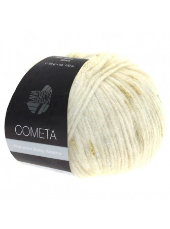 Lana Grossa Cometa 01 écru: pregiato filato invernale in baby alpaca e lana merino - Amici di Maglia