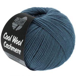Lana Grossa Cool Wool Cashmere 11 blu piccione: prezioso filato invernale in pura lana merino e cashmere - Amici di Maglia