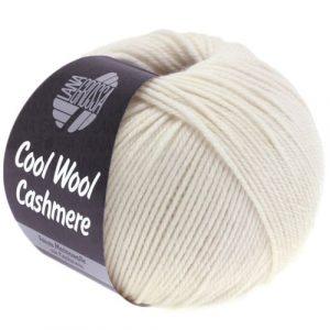 Lana Grossa Cool Wool Cashmere 12 bianco crudo: prezioso filato invernale in pura lana merino e cashmere - Amici di Maglia