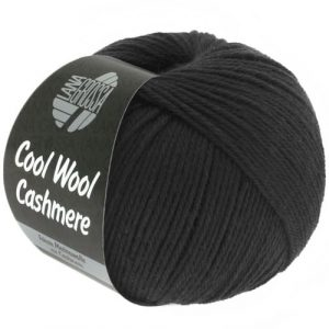 Lana Grossa Cool Wool Cashmere 15 nero: prezioso filato invernale in pura lana merino e cashmere - Amici di Maglia