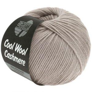 Lana Grossa Cool Wool Cashmere 29 grigio pietra: prezioso filato invernale in pura lana merino e cashmere - Amici di Maglia