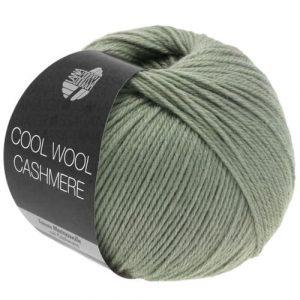 Lana Grossa Cool Wool Cashmere 33 grigio verde: prezioso filato invernale in pura lana merino e cashmere - Amici di Maglia