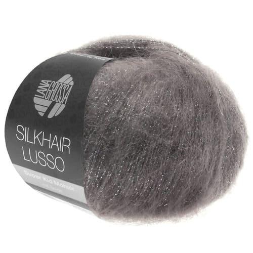 Lana Grossa Silkhair Lusso 906 grafite: filato pregiato in mohair superkid e seta - Amici di Maglia