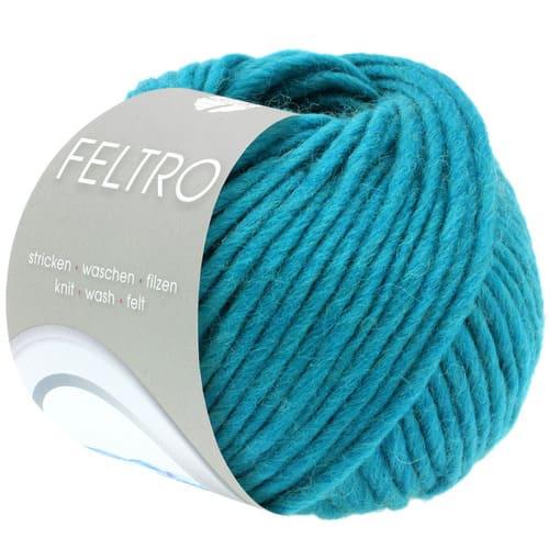 Lana Grossa Feltro 32 turchese: filato bulky in pura lana vergine - Amici di Maglia