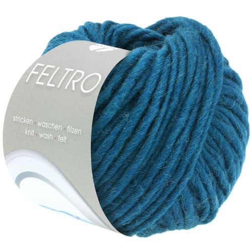 Lana Grossa Feltro 40 blu petrolio: filato bulky in pura lana vergine - Amici di Maglia