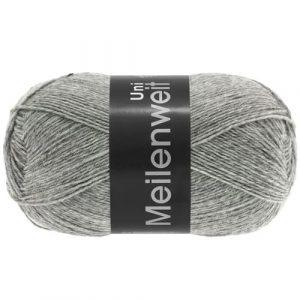 Lana Grossa Meilenweit Uni 100 1103 grigio screziato: filato invernale per calze - Amici di Maglia