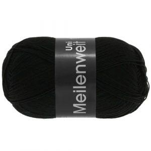 Lana Grossa Meilenweit Uni 100 1106 nero: filato invernale per calze - Amici di Maglia