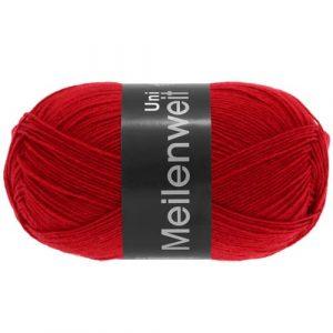 Lana Grossa Meilenweit Uni 100 1332 rosso: filato invernale per calze - Amici di Maglia