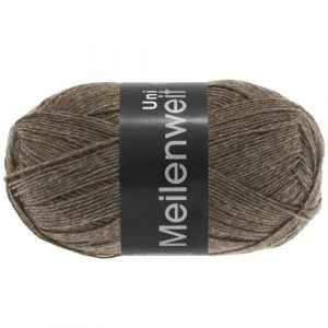 Lana Grossa Meilenweit Uni 100 1334 marrone screziato: filato invernale per calze - Amici di Maglia
