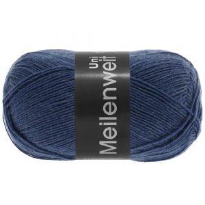 Lana Grossa Meilenweit Uni 100 1342 blu: filato invernale per calze - Amici di Maglia