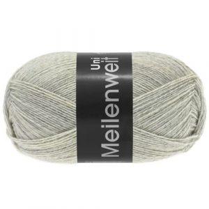 Lana Grossa Meilenweit Uni 100 1358 grigio chiaro screziato: filato invernale per calze - Amici di Maglia