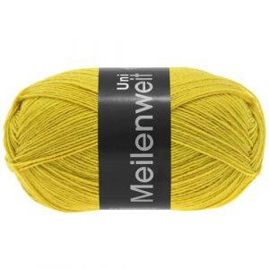 Lana Grossa Meilenweit Uni 100 1370 giallo senape: filato invernale per calze - Amici di Maglia