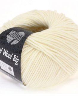Lana Grossa Cool Wool Big 601 bianco crudo: filato invernale in pura lana merino - Amici di Maglia
