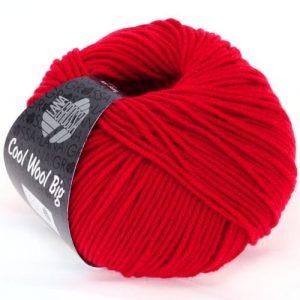 Lana Grossa Cool Wool Big 648 rosso carminio: filato invernale in pura lana merino - Amici di Maglia