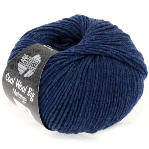 Lana Grossa Cool Wool Big 655 blu scuro: filato invernale in pura lana merino - Amici di Maglia
