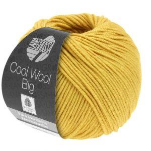 Lana Grossa Cool Wool Big 986 giallo zafferano: filato invernale in pura lana merino - Amici di Maglia