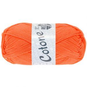 Lana Grossa Cotone arancio luminoso: filato estivo in puro cotone - Amici di Maglia