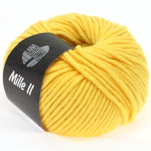 Lana Grossa Mille II 060 giallo sole: filato invernale in lana vergine merino - Amici di Maglia