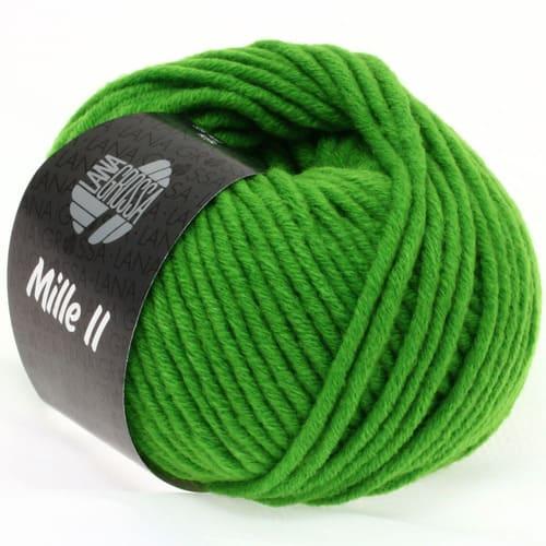 Lana Grossa Mille II 071 verde: filato invernale in lana vergine merino - Amici di Maglia