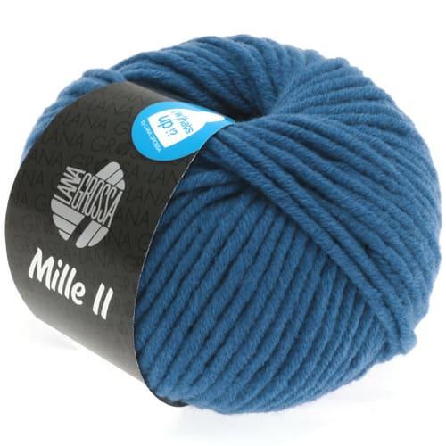 Lana Grossa Mille II 077 jeans: filato invernale in lana vergine merino - Amici di Maglia