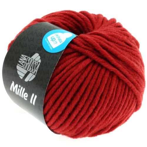 Lana Grossa Mille II 082 rosso mattone: filato invernale in lana vergine merino - Amici di Maglia