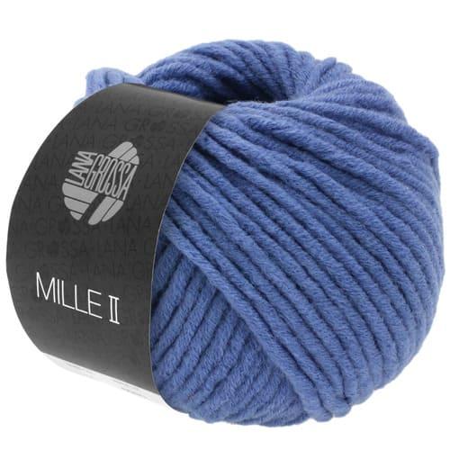Lana Grossa Mille II 135 grigio blu: filato invernale in lana vergine merino - Amici di Maglia