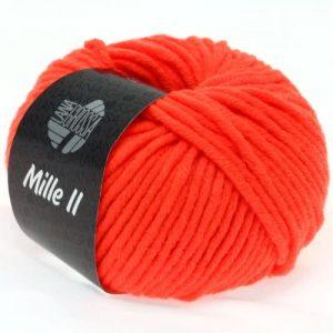 Lana Grossa Mille II 503 arancio neon: filato invernale in lana vergine merino - Amici di Maglia