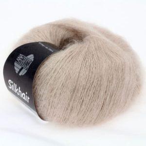Lana Grossa Silkhair Uni 018 beige chiaro: prezioso filato in kid mohair e seta - Amici di Maglia