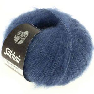 Lana Grossa Silkhair Uni 079 blu scuro: prezioso filato in kid mohair e seta - Amici di Maglia