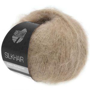 Lana Grossa Silkhair Uni 123 beige perla: prezioso filato in kid mohair e seta - Amici di Maglia