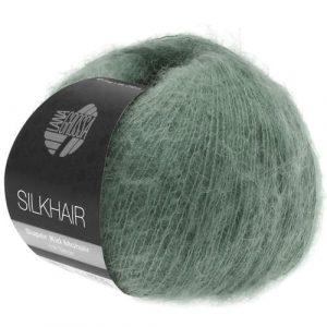 Lana Grossa Silkhair Uni 127 verde muschio: prezioso filato in kid mohair e seta - Amici di Maglia