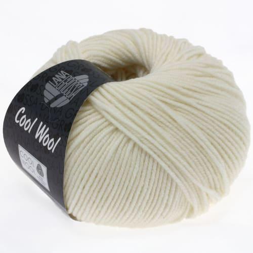 Lana Grossa Cool Wool 432 ecru: filato invernale in pura lana merino - Amici di Maglia