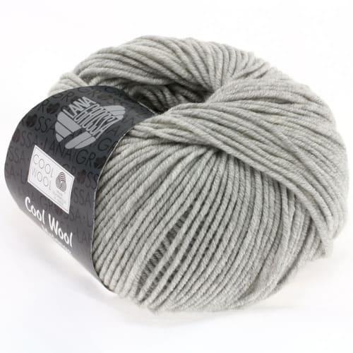 Lana Grossa Cool Wool 443 grigio chiaro screziato: filato invernale in pura lana merino - Amici di Maglia
